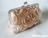 Made to Order The Romantic Rosette Champagne Clutch