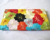 Floral Boho Hobo Ethnic Tribal Embroidered Hmong Hilltribe Wallet Purse
