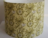 Handmade Drum Lampshade in Angie Lewin's Dandelion One Fabric