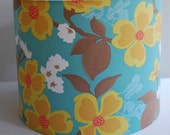 Handmade Drum Lampshade In Joel Dewberry's Dogwood Bloom Fabric