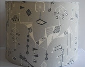 Handmade drum lampshade in Treehouse by Alice Stevenson