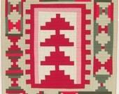 """Improv Log Cabin Quilt, Wall Quilt, Art Quilt, 41"""" x 47"""""""