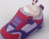 Pincushion, Baby Running Shoe, Pink, Purple, Pinsies, Cute, Sports, Swarovski Crystal, Pin Cushion (Left)