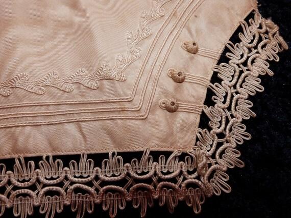 Rare antique French bride moire wedding dress sash belt , 1900s bridal clothing accessory, romantic Valentine love, w lace trim buttons