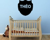 Child Custom name and color Shield badge vinyl wall decal sticker