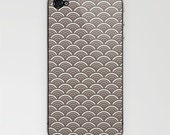 Iphone Skins - Japanese inspired pattern in taupe color