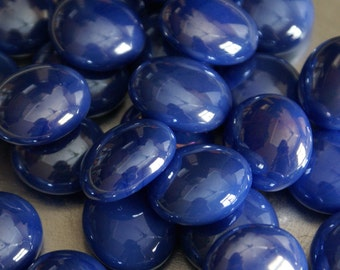 Tuscan Blue Opal Gems, Nuggets, Flat Backed 30ct. Mosaic Tiles