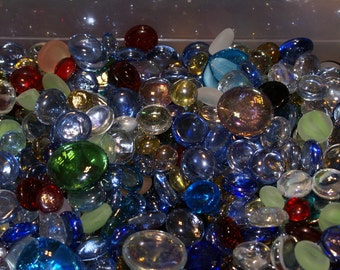 """Two Pounds """"WOW"""" Grab Bag of Gems, Nuggets, Flat Backed, . Mosaic Tiles - Squares - Rectangles"""