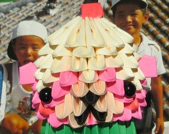 3D origami cupcake bear  kit