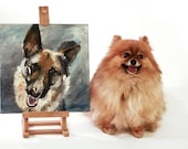 "YOUR Dog - Custom Dog Portrait / Painting on 12x12"" canvas"