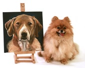 "YOUR Dog - Custom Dog Portrait / Painting on 12x12"" canvas"