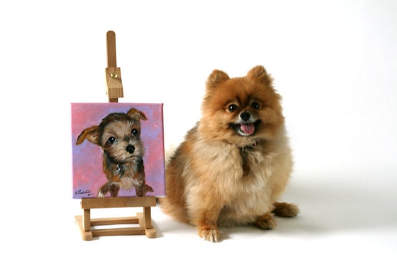 "YOUR Dog - Custom Dog Portrait on 8""x8"" canvas"