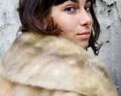 reserved for PAMELA   SALE: Real Fur Caplet. 1950s. Fur Outerwear. Fur Jacket. Pale Fur. Glamerous Luxury. Mad Men. Amazing Condition.