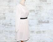 Vintage 80's Angel White Striped Secretary Dress XS or S