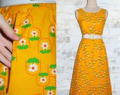 Vintage 60's Malia Daisy Low Back Sun Dress XS or S