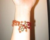 Half Carnelian, Red Aventurine & TIger's Eye Mala Bracelet