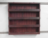 Wooden Spice Rack Painted Distressed Solid Pine