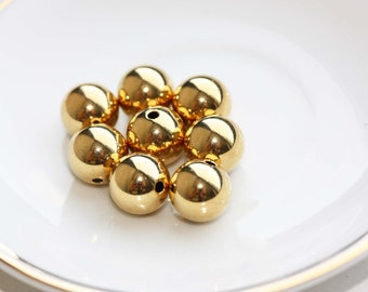 Vintage Gold Beads (6x)