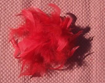 Fascinator Feather Flower Pin Brooch