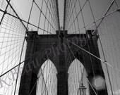 Items similar to Brooklyn Bridge - Architecture - Black ...