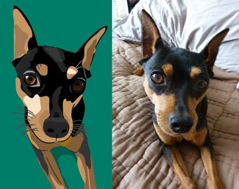 A custom pop art portrait of your pet- DIGiTAL DOWNLOAD