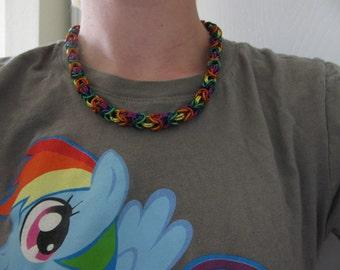 "Rainbow Byzantine Toggle Clasp Necklace - 19"""