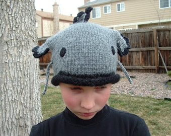 Adorable Soft Grey Catfish Hat. Any size
