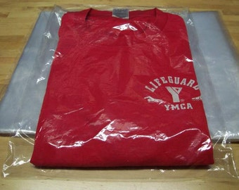 "100 - 9x12 Clear Poly T - Shirt Plastic Bags w/ 2"" Flap"