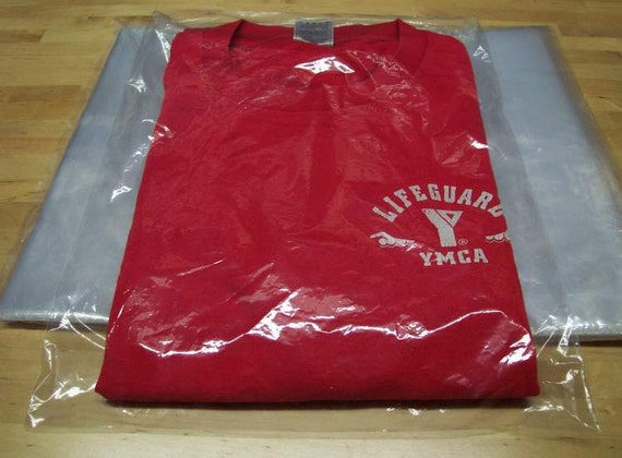 100 9x12 clear poly t shirt plastic bags w 2 flap
