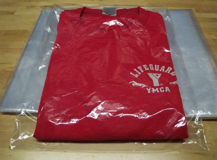 100 9x12 clear poly t shirt plastic bags w 2 flap