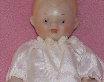 Clearance sale,Vintage Shackman all porcelain 4in Baby doll