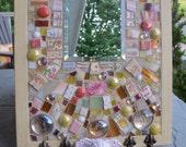 mosaic jewelry storage/display cottage chic rose