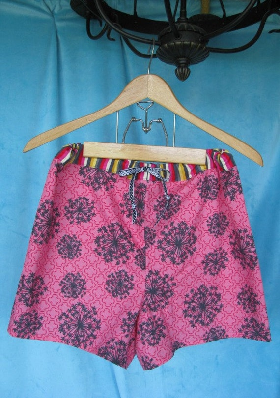 CLEARANCE SALE Women's/ Teen Girl's Pajama shorts, 100% organic cotton- size SMALL only