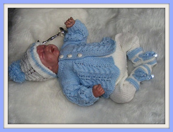 Knitting PATTERN No. 4 Premature Boy or 16 inch Reborn