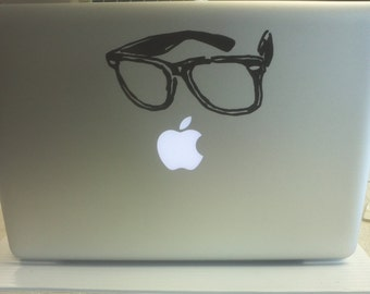 Hipster Glasses decal: For Laptop, Car etc..