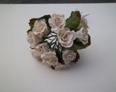 Mulberry Roses-1 inch cream roses