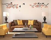 tree wall decal sticker vinyl with birds leaves squirrels
