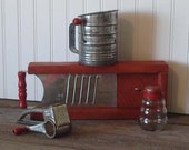 Vintage Red Handled Kitchen Tools - Instant Collection -