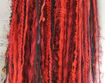 Red Yarn Falls Hair Extensions