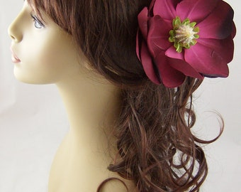 Fuchsia Magnolia Hair Stick Set