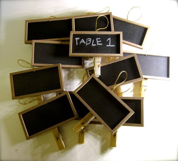 Custom listing for Eva- Wedding Chalkboard Clothespins Wedding Table Signs - Laser Engraved x 16