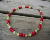 RESERVED - Red and Green Fiesta Choker