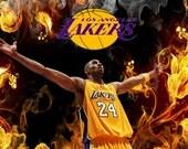 Kobe Bryant Los Angeles Lakers Framed Art Print On Canvas