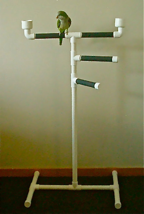 Parrot Bird Triple Perch Play Gym Tower Stand By
