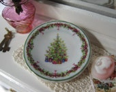 Christmas Holiday Tree Plate for Dollhouse