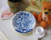"""Dollhouse Plate """"Delft Woods"""""""