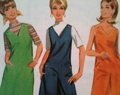 Now REDUCED: Vintage 1968 McCall's pattern for mini dress or jumpsuit/pantsuit. Vintage size 14 (modern day size 10/12 UK, size 6/8 USA)