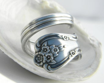 Vintage Spoon Ring, Magnolia / Inspiration 1951 Silverware Jewelry