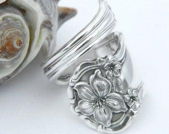 Silver Spoon Ring  - Orange Blossom 1910 SILVERWARE JEWELRY