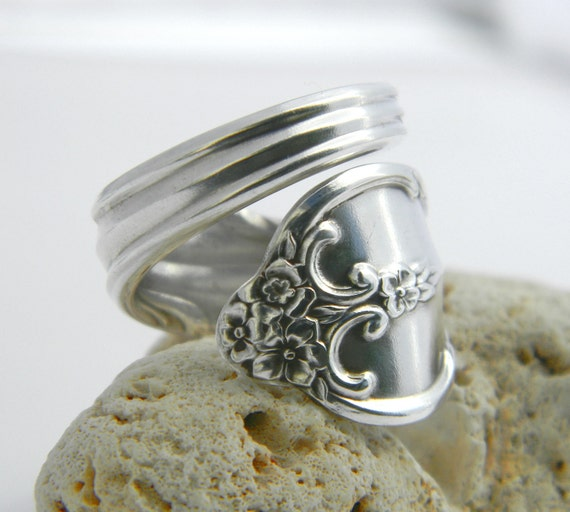 Wrapped Spoon Ring, Silverware Jewelry, Southern Splendor 1962